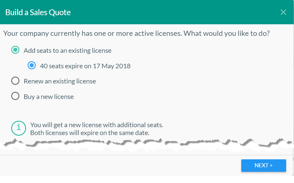 Add seats to a license