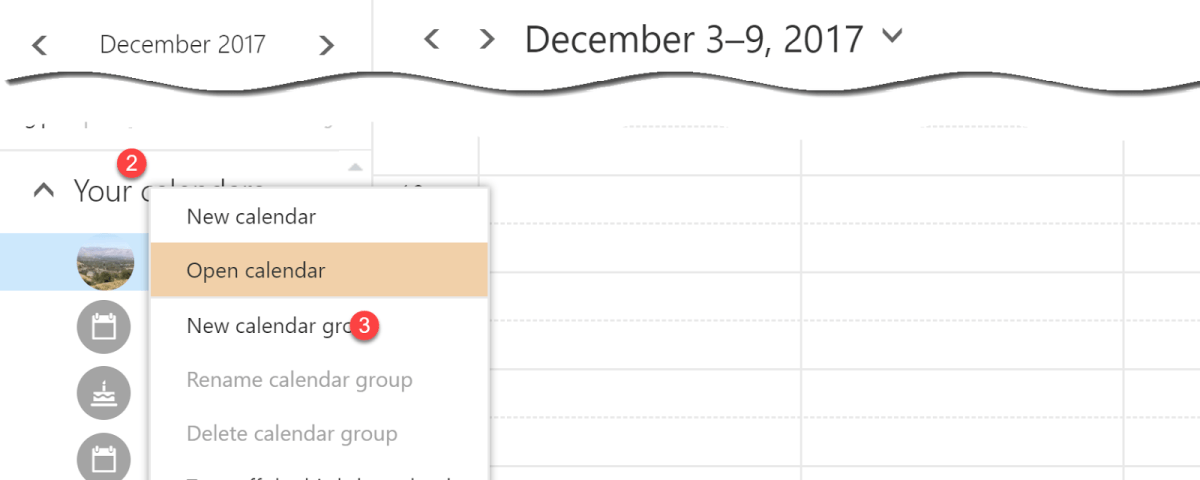 view and edit shared calendars from outlook web access