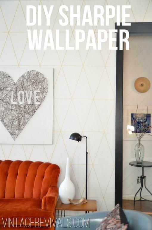 DIY Sharpie Wallpaper Tutorial @ Vintage Revivals[7]