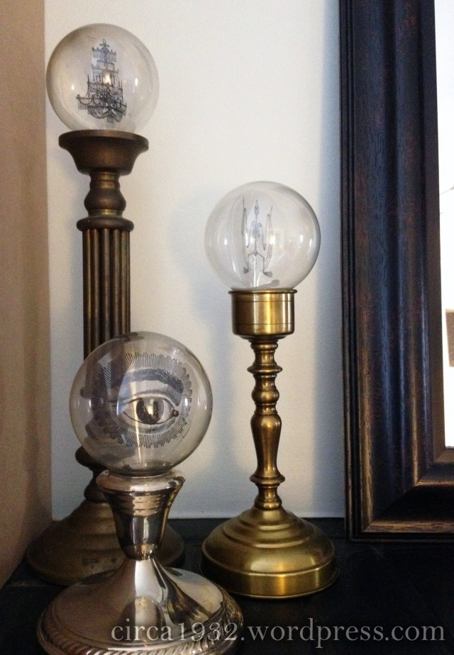 halloween mantle crystal balls