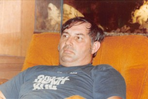 Dwayne Hanson of Nevada, Iowa, in his recliner.