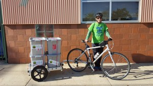 bicycle compost, bike composting, bike pickup, bike food waste