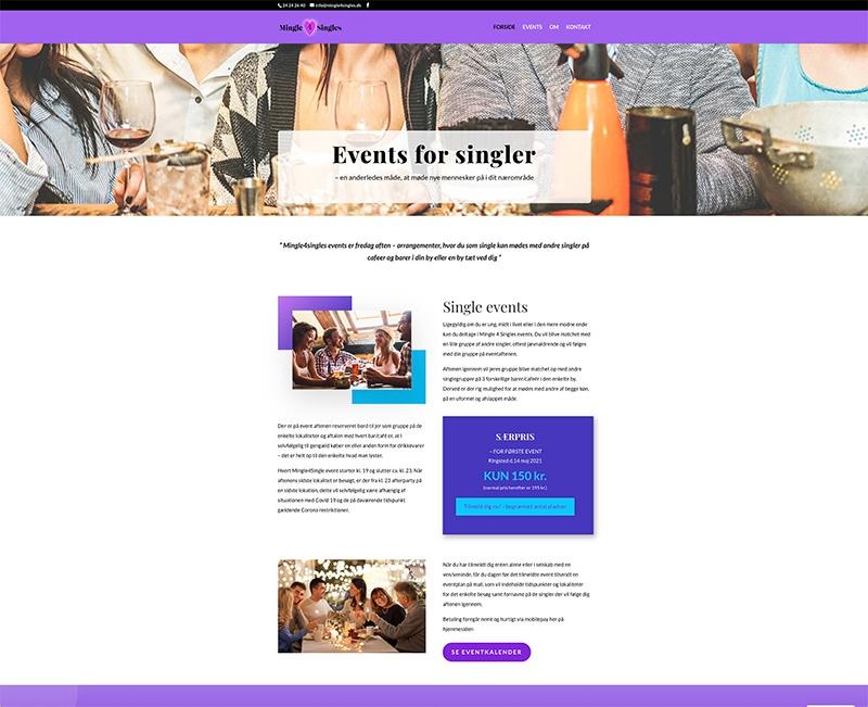 Webdesign af forside