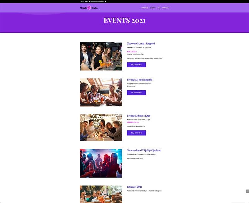 webdesign af events