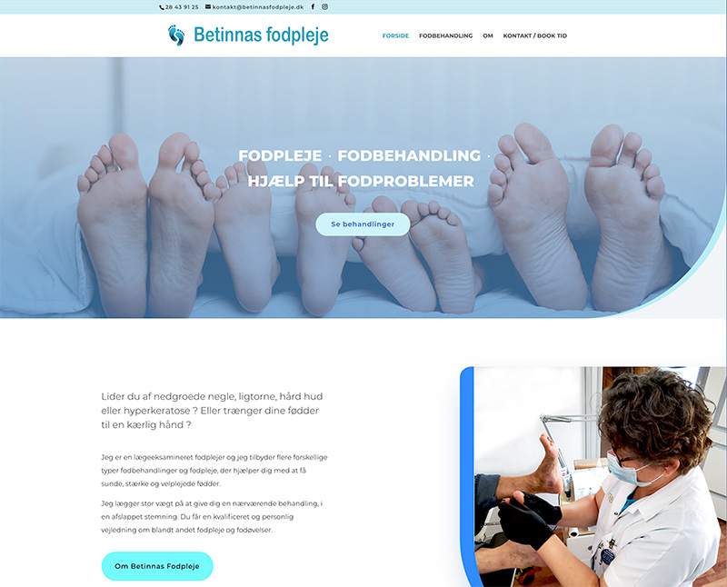 webdesign af Betinnas Fodpleje