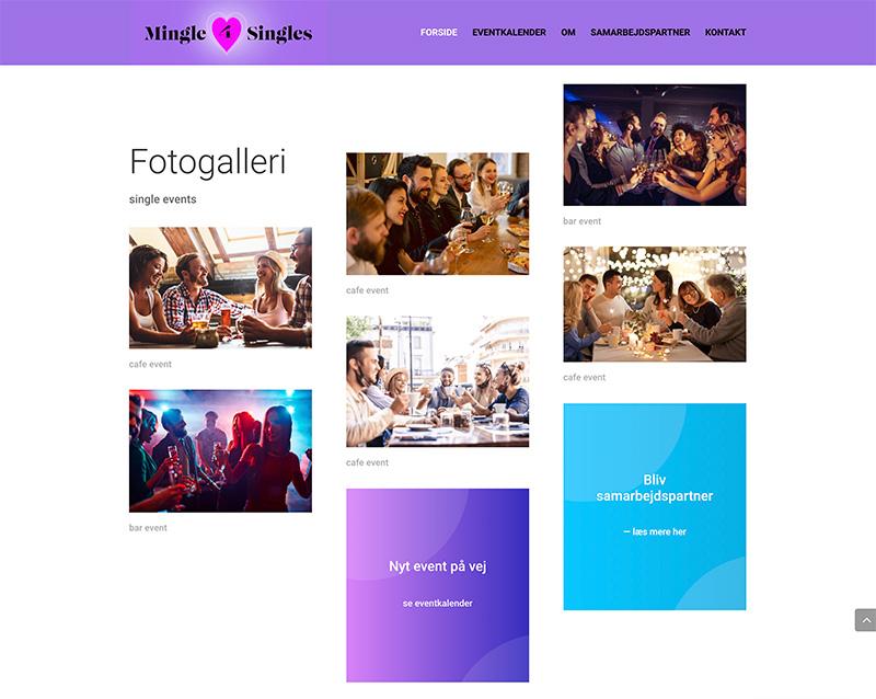 Webdesign af galleri
