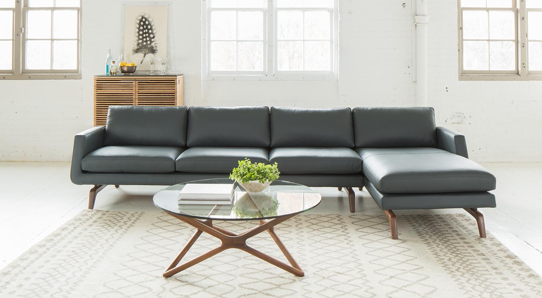 Circle Furniture Nash Sofa Leather Sofa Contemporary Furniture Store