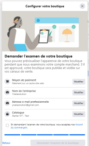 examen boutique facebook