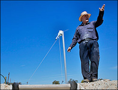 Near Shepparton, Victoria farmer Bill Gread surveys his irrigated land. He is one of some 60,000 farmers in Australia's Murray-Darling Basin struggling to cope with the extensive drought.