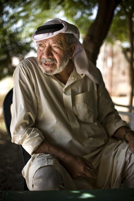 Portrait of a villager near Al Jiftlik village, in the Jordan Valley.