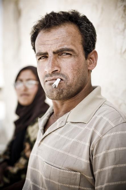 Portrait of a farmer, at Umm Lasafa village.
