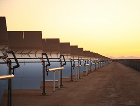 Solar power plants consume scarce water