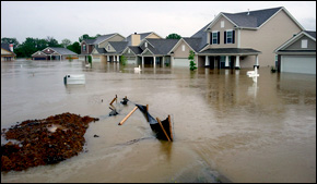 Nashville flooded houses