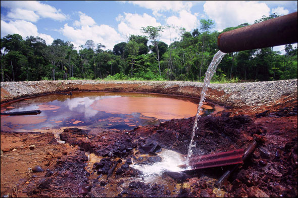 Ecuador Chevron Texaco Oil Spill Toxic Water Energy Pollution Amazon Indigenous