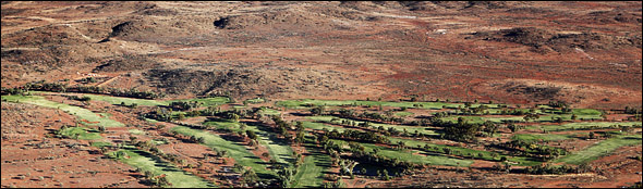 A golf course located near Broken Hill in New South Wales, Australia.