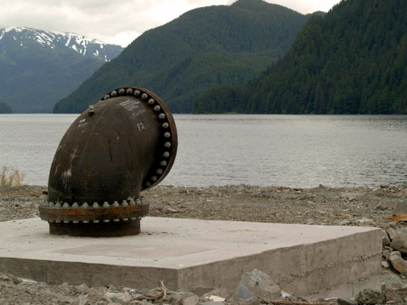 Alaska bulk water Sitka harbor pipeline shipping dock