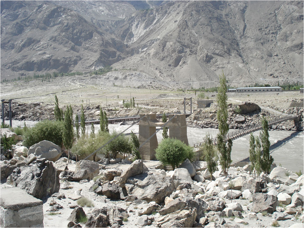The Indus River, shown here near Skardu, is the main source of water for Pakistan's 18-million-hectare irrigation system.