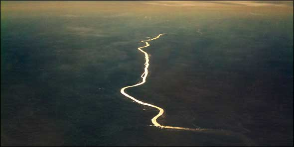 Aerial photo of the Illinois River near Ottawa, Illinois. 2010.