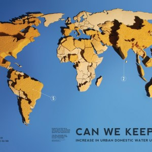 Water Data Infographic Design Urban Cities World Water Day 2011 Visualizing.org Circle of Blue