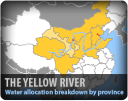 Map of the Yellow River Water Basin in China