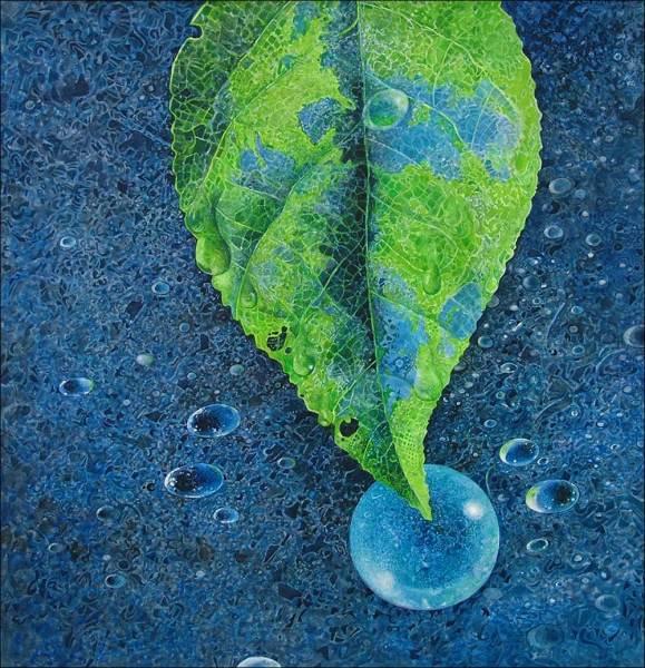 Greg Mort Print: Circle of Blue