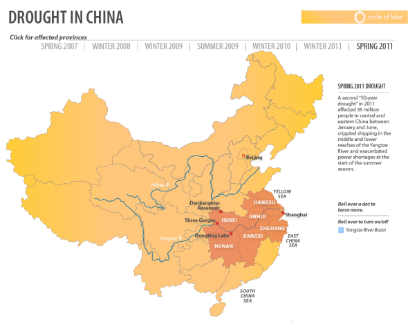 China 2011 Drought Infographic Water Scarcity Map Timeline