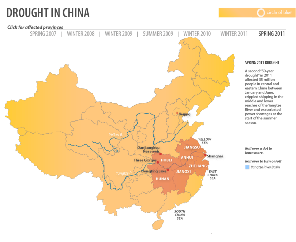 China 2011 Spring Drought Infographic