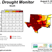 Peter Gleick US Drought Monitor Texas Oklahoma Louisiana Alabama Tennessee Missouri