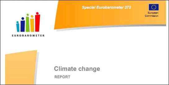 Eurobarometer Survey: Europeans Say Climate Change More Dire Than Economic Situation