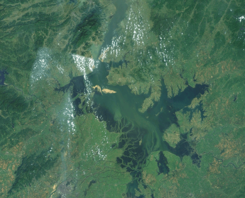 NASA Satellite image of Lake Poyang