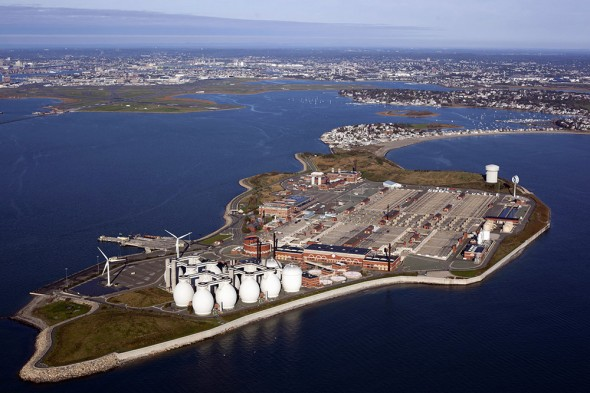 The holding tanks at the Deer Island's wastewater treatment plant in Boston Harbor were raised by half a meter (nearly two feet) during construction in the 1990s in response to potential sea-level rise. The facility was one of the first to have a design that was informed by climate science.