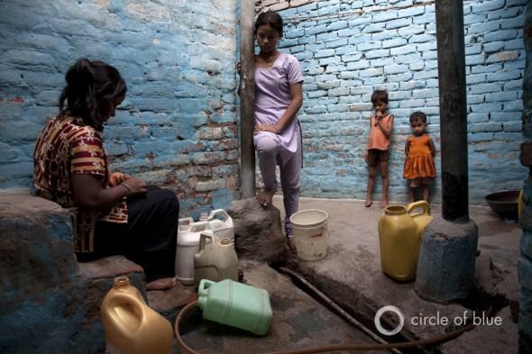 Delhi India water views anita khemka pollution supply