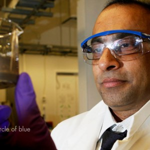 Dr. Subir Bhattacharjee in his laboratory at the University of Alberta