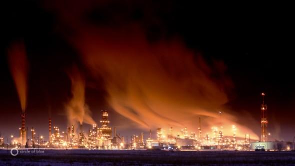 Suncor refinery, Edmonton, Alberta, Canada tar sands oil