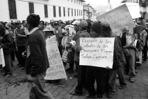 Protesters Cusco Peru national day of strike President Alan García Amazon logging mining