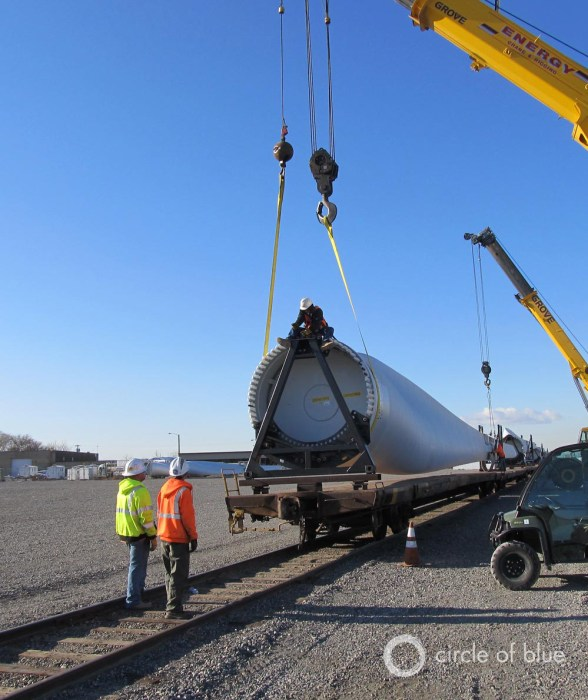 wind turbine blade pasco washington clean energy