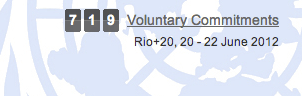 Rio+20 voluntary commitments UNCSD sustainable development United Nations 719
