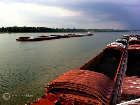Ohio River coal barge energy transportation shipping great lakes