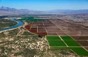 Colorado River Basin farm land floodplain agriculture crops irrigation wells mojave desert