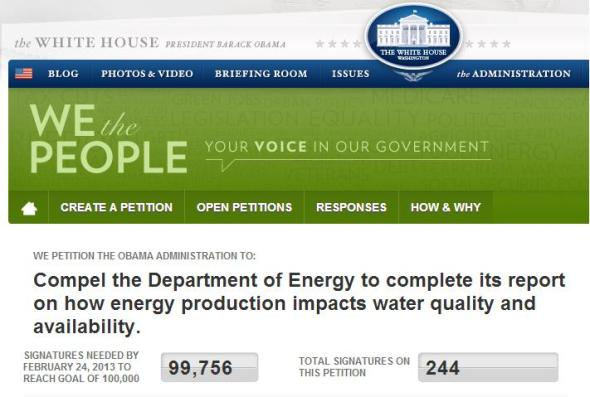 white house obama administration department of energy doe water-energy road map