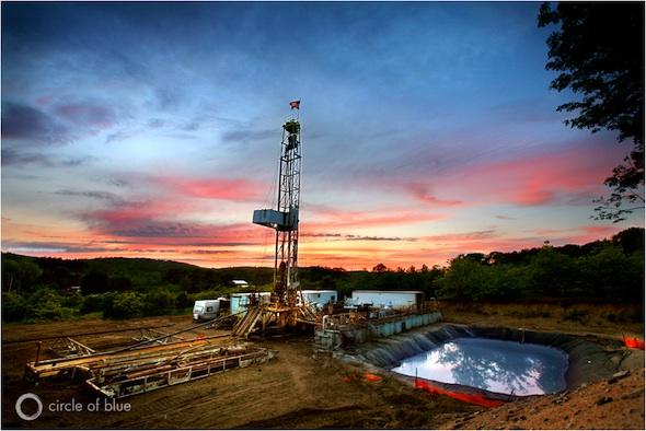 Natural Gas Fracking Circle of Blue Michigan Benzonia