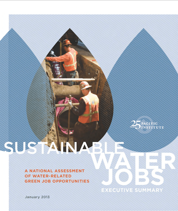 peter gleick pacific institute water jobs sustanability