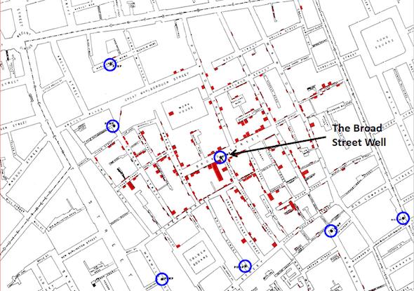 peter gleick Cholera map Dr. John Snow
