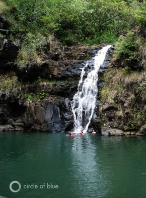 Waimea Falls Oahu north shore Hawaii fresh water ko'olau mountains