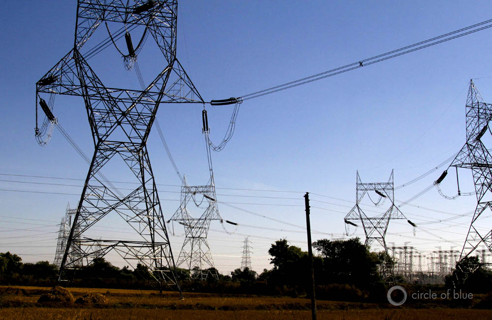 Choke Point India water food energy nexus Circle of Blue Wilson Center electricity line electric power centralized grid