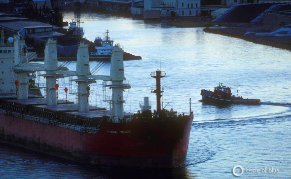 Federal Polaris Great Lakes freighter cargo ship invasive species