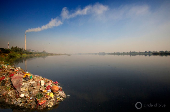 India new delhi yamuna river pollution polluted water food energy circle of blue choke point wilson center j. carl ganter