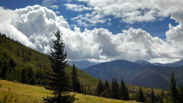 Taos New Mexico thunderstorm drought rain meadow monsoon
