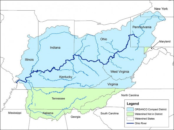 A map of the Ohio River Valley