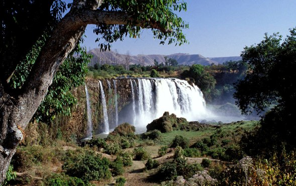 Nile River Blue Nile Falls Ethiopia waterfall Bahar Dam Lake Tana Ethiopian Highlands tourist attraction tourism hydroelectric hydropower